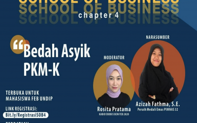 "Webinar – School of Business with the Theme ""Let's Talk about Entrepreneurship Students' Creativity Program"", Universitas Diponegoro, 21 Nov 2020"